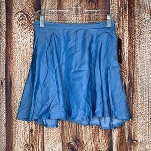 Lulus NWT Chambray Blue Skirt Small